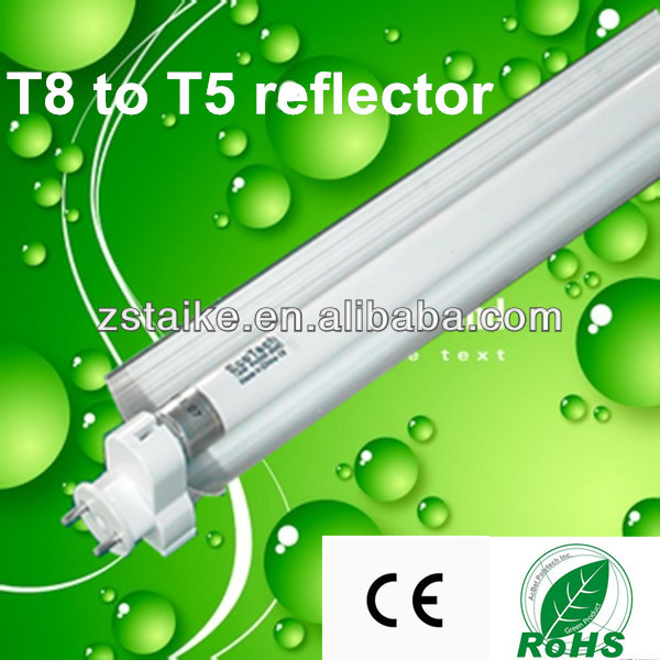 T8 to t5 adapter adaptor 1FT 2FT 3FT 4FT 5FT with aluminum reflector.
