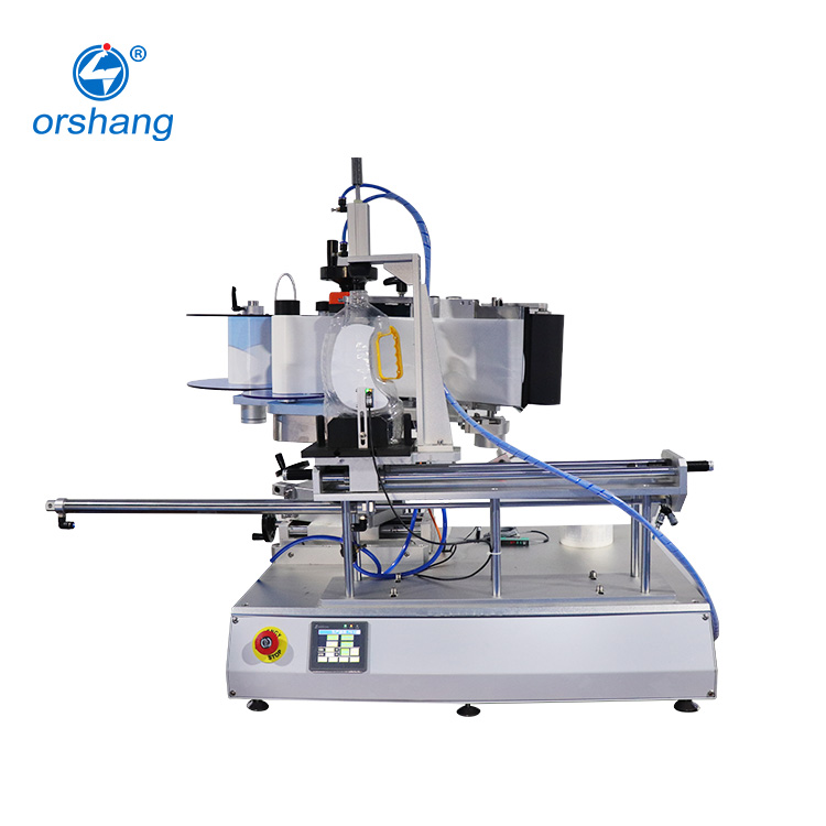 Best Price Semi Automatic Double Side Labeling Machine For Flat / Square Bottle
