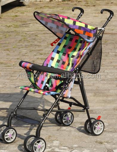 Folding Lightweight Strollers , Super Quality 4 Wheel Baby Bike Stroller With Canopy