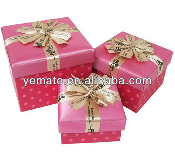 New Product Quality Pink Cardboard Walmart Gift Boxes For Promotion With Ribbon On Lid 3 Size To Choose Buy Walmart Gift Boxes Cardboard Walmart