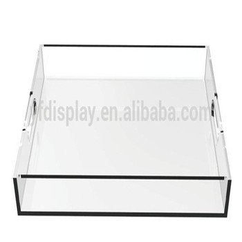 2016 New Design Large Clear Acrylic Serving Tray