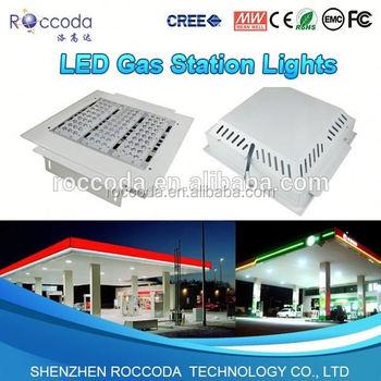 Petrol Station 100w Led Canopy Lights Gas Station Lighting Fixture ...