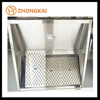 Custom Size Stainless Steel 201Grade Kitchen Aire Range Hood Best Sell  Commercial Chimney Hood With ESP