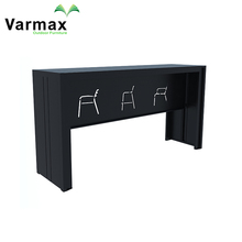 ISO9001 Certified Wooden High Foot Bar Counter Table Bar Bar Coffee Table
