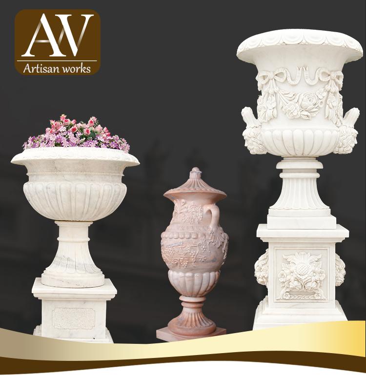 Красивые наружные бронзовые урны/цветочные горшки/вазы статуи