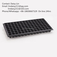 98cells plastic nursery pots trays for seedlings, 1.2mm thickness, 195g