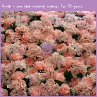 Silk Hydrangea Wedding Flower Wall Hire Artificial Floral Wall Wedding Stage backdrop Decor