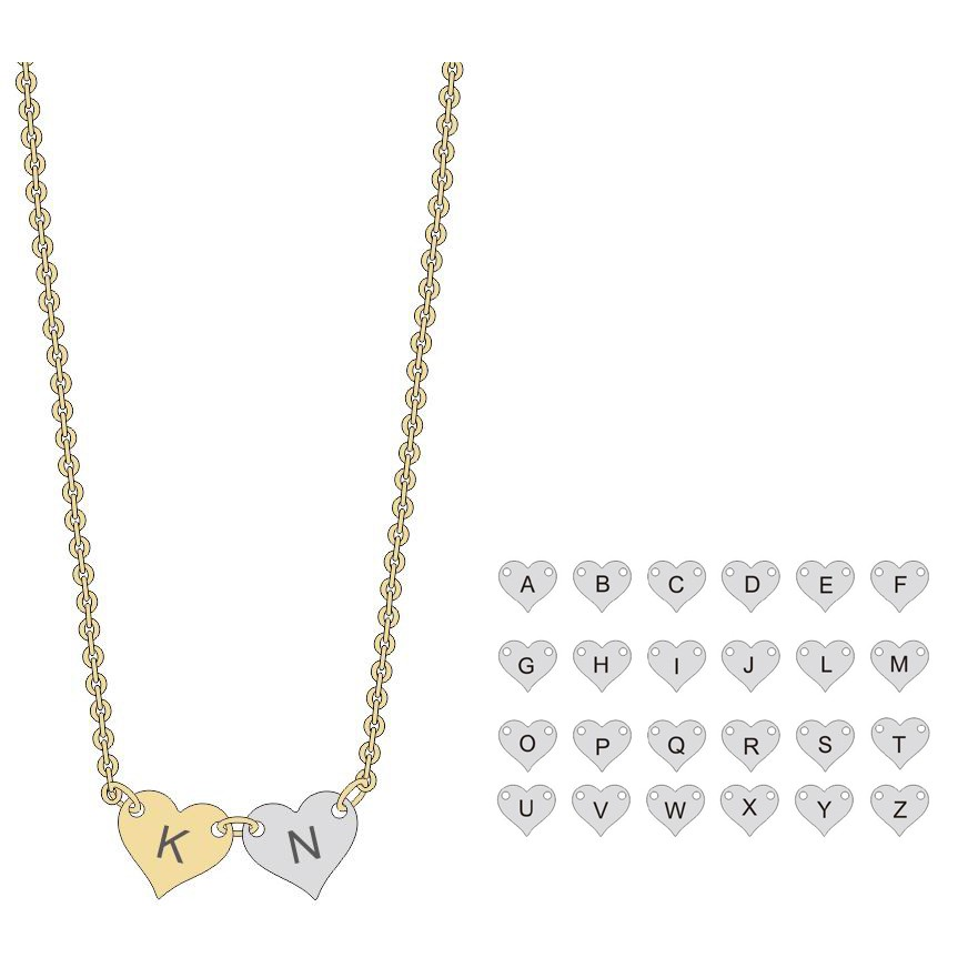 Gold Necklace Designs 2016 Choose Alphabet Make Your Own Name ...