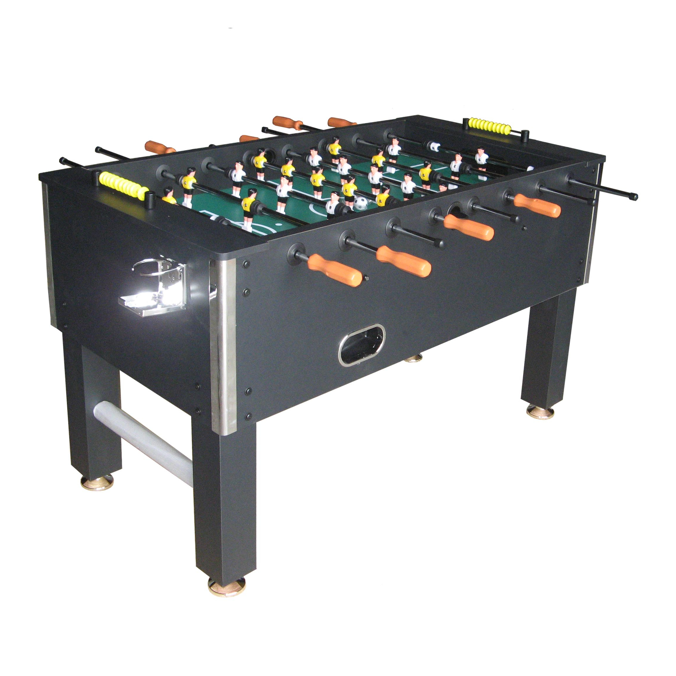 KBL-0924 Black MDF table type Football Table Soccer Game with wood handle grip and 2pcs cup holder freely