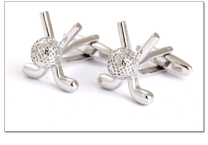 Chinese cheap sports golf cufflinks best man cufflinks, base metal cufflinks
