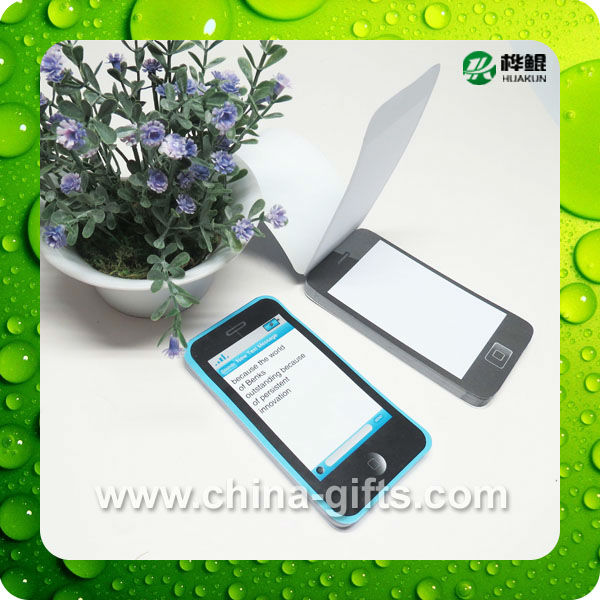 notepads with I-phone shaped style, 50 sheets, for office stationary and company promotion