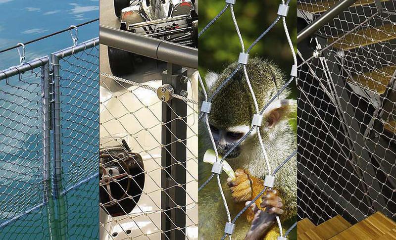 Ss316 Aviary Bird Zoo Mesh/stainless Steel Wire Rope Mesh