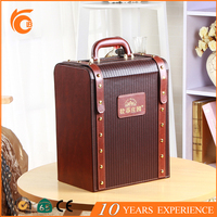 New bulk product pu leather wine gift brand box for holiday from China