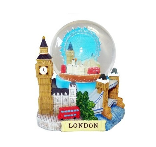 3D Kleine De Luxe Collage Sneeuwbol Detaillering London Landmarks Big Ben Tower Bridge water bal sneeuwbal Londen Souvenirs