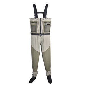 Cheap price waterproof fly fishing breathable fabric chest fishing waders boots