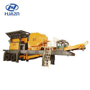 High efficiency mobile stone crushing & screen plant/mobile jaw crusher station for mine construction
