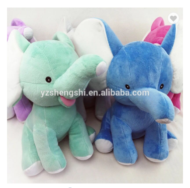 OEM Factory cute plush elephant toy 4 colors elephant toy /sitting size 25cm adjustable for baby play