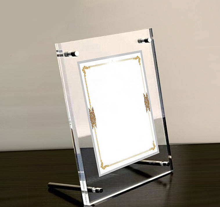 Square Crystal Clear Acrylic Photo Frames With Standoffs,Lucite ...