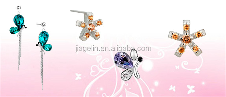 Hot Selling Pearl/Gem/Crystal Stud Earring Silver 925 Plug for Ladies Jewelry Accessories