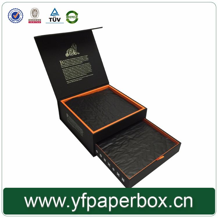 Assez Noir Fermeture Magnétique Chocolat Boîte D'emballage/de Luxe  GX67