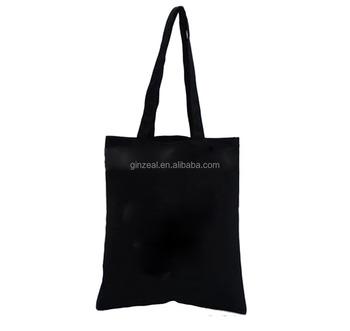 Plain Black Cotton Canvas Tote Bag 8e53b419cecc