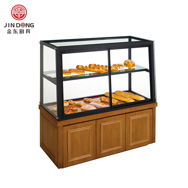 Kurve Glas Bäckerei Display Cookies Keks Brot Schaufenster