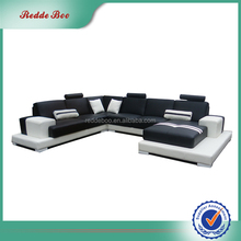 Sectional leather modern sectional livingroom set corner sofa for single person