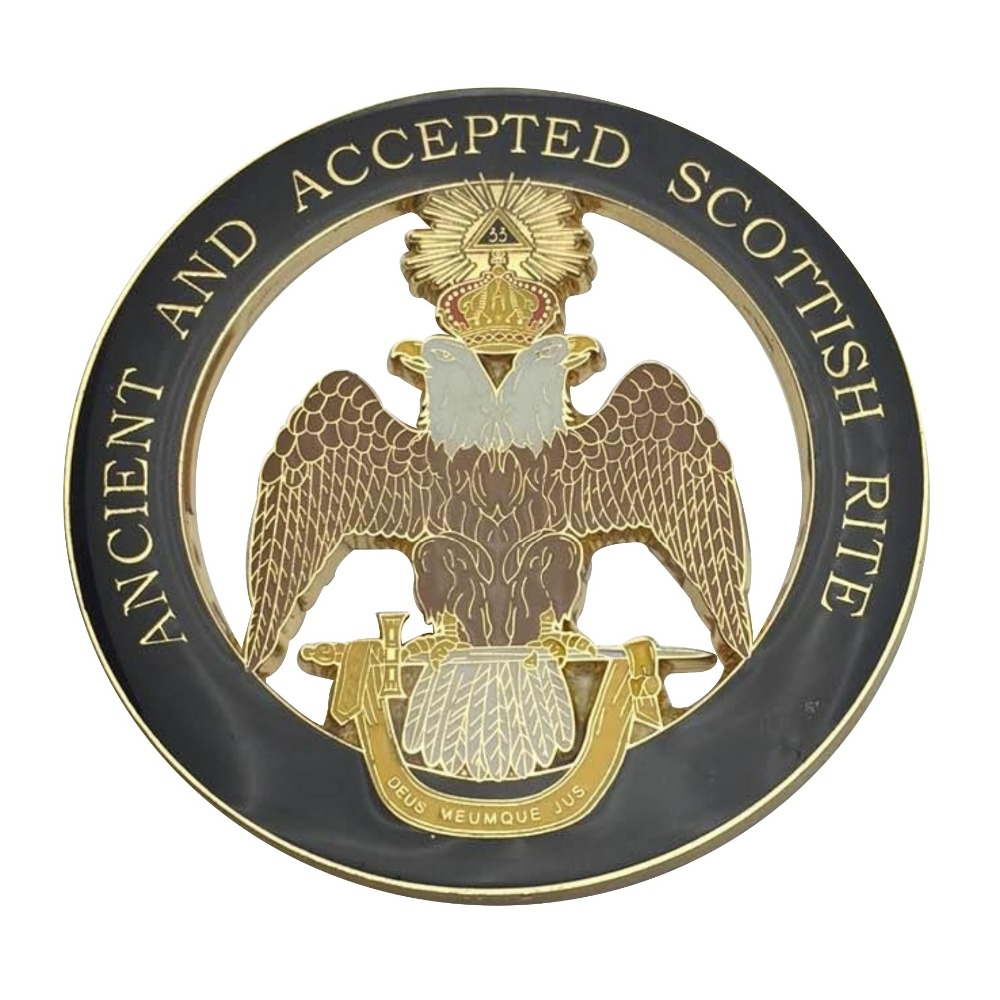 Masonic Emblem 33 Degree Wing Down Scottish Rite Emblem Badge