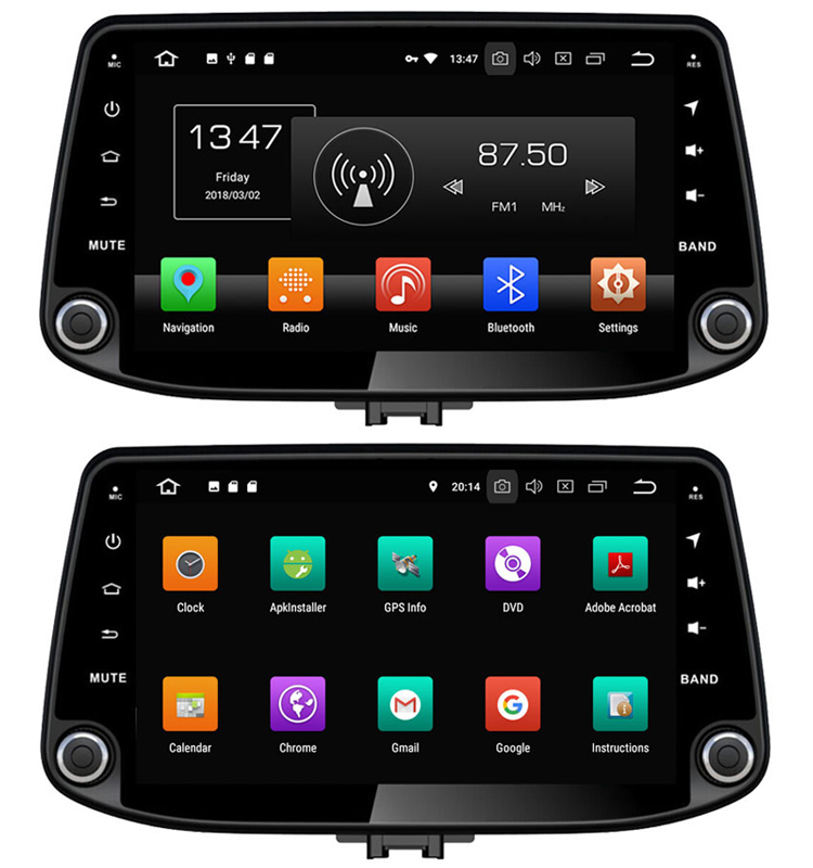 4+32G android 8.0 car dvd gps navigation system for hyundai i30 2017 auto radio with bluetooth video player