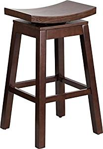 Get Quotations Estella 30 Saddle Seat Cuccino Wood Bar Stool W Auto Swivel
