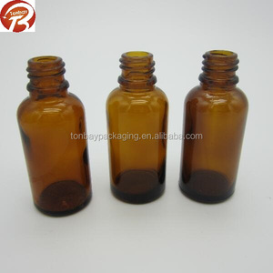 18/410 30ml amber E liquid glass bottle container with tamper proof plastic cap and inner dropper