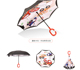 19inch 8K 190T pongee umbrella upside down car umbrella children