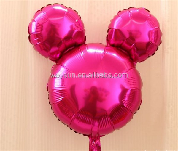 Mickey Minnie Mouse Thema Print Folie Helium Ballon Baby Douche