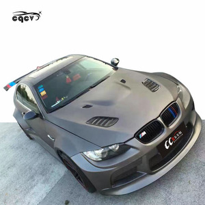 V style wide body kit for BMW 3 series M3 E90 E92 E93 front bumper rear  bumper side skirts wide fender hood and wing spoiler