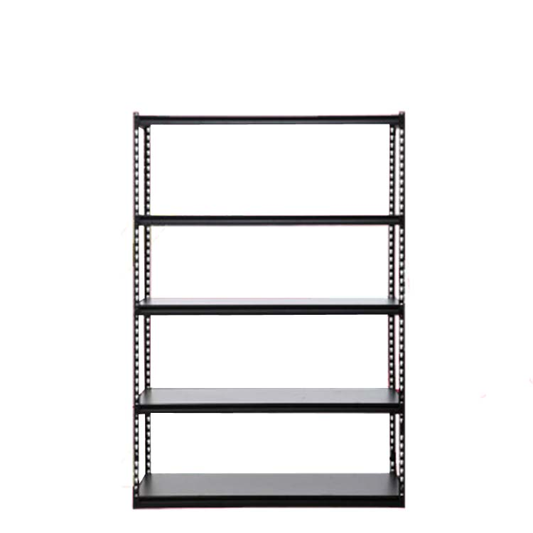 retail grocery store display rack angle steel slotted boltless rivet shelving