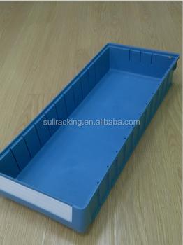 Shelf Plastic Storage Bins with Dividers widely used in warehouse & Shelf Plastic Storage Bins With Dividers Widely Used In Warehouse ...