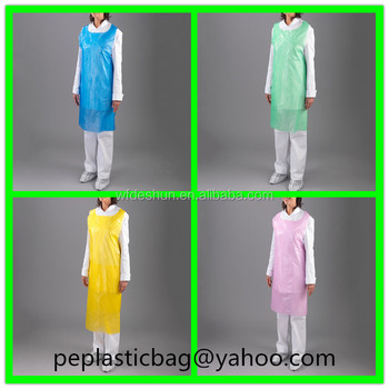 Colored Medical And Kitchen Disposable Plastic Aprons