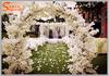 wholesale artificial silk flower arch cherry blossom for wedding stage background lintel