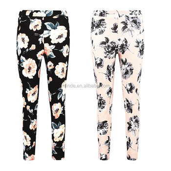 Sex Tight Trousers Pics Lady Slimming Pants Large Floral Skinny Trouser Women