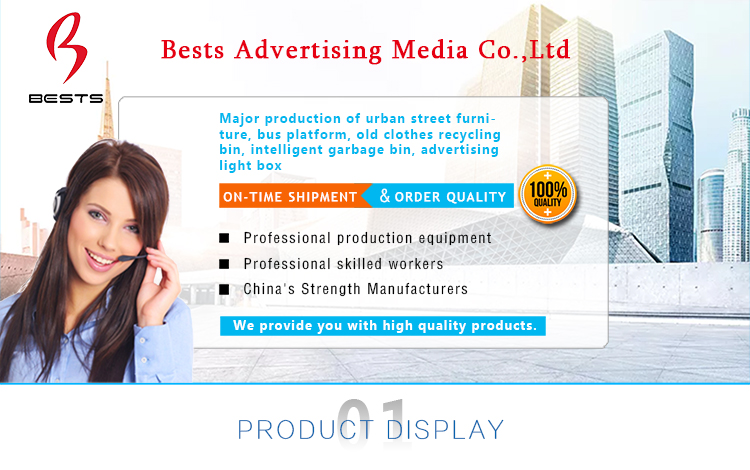 china factory advertising steel led light box sign outdoor