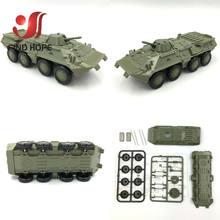 1:72 BTR-80 бронированный Перевозчик M35 грузовой автомобиль M1046 KFZ.305 BLITZ строительный блок сборка военных автомобилей модель армии(Китай)