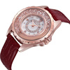 Hot selling genuine leather strap rolling stones shell dial skone lady watch