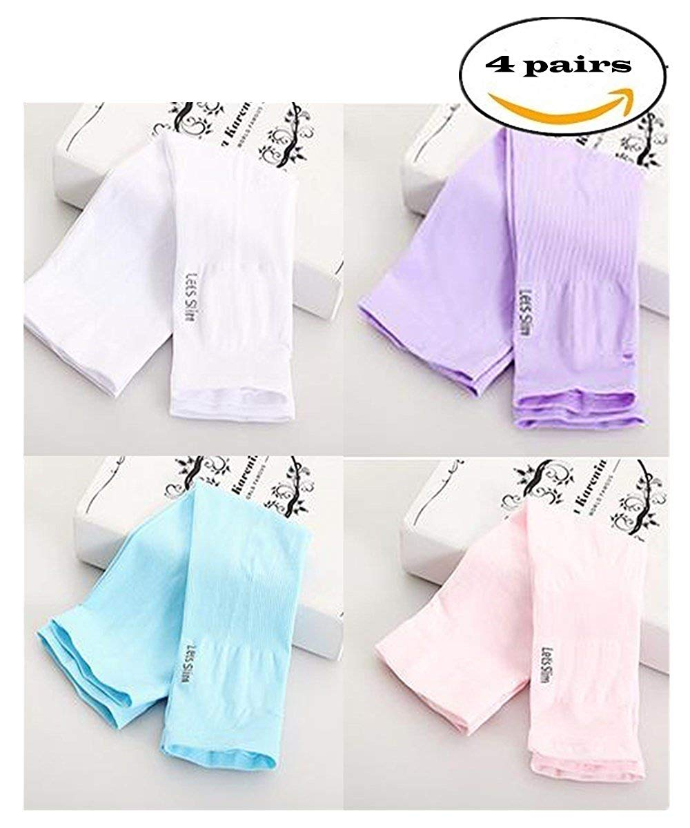 59b6cd71a6 Get Quotations · F-BBKO 4 pairs of long-span arm sun protection sleeves,  bike/
