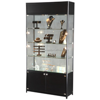 2018 HOT selling glass display showcase&jewelry display showcase with cheap price
