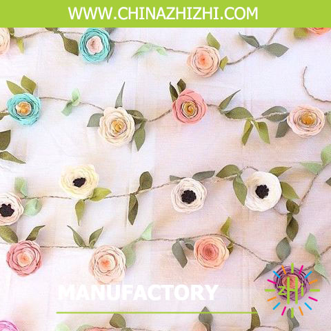 2016 hotsale manufactory indian rose flower garland