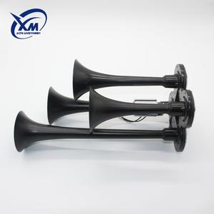 2019 new 12v 24v 3 Three Pipe Trumpet Zuper Claxon Chrome Iron Musical Car  Auto Horn Air Controlled Horn Pakistan