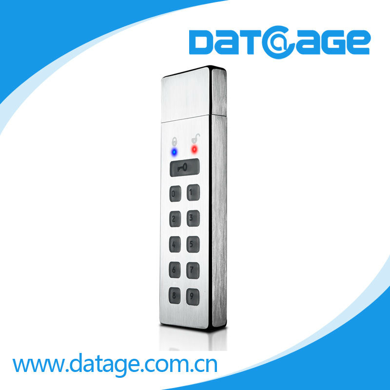 Datage UFlash250 2013 TOP Metal Encrypted Key Button USB