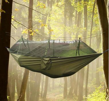 h ngematte schaukel bett mit moskitonetz schlafen. Black Bedroom Furniture Sets. Home Design Ideas