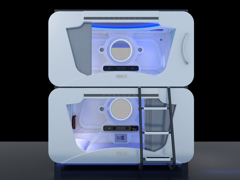 2015 fashionable and comfortable modern hotel capsule sleeping bed