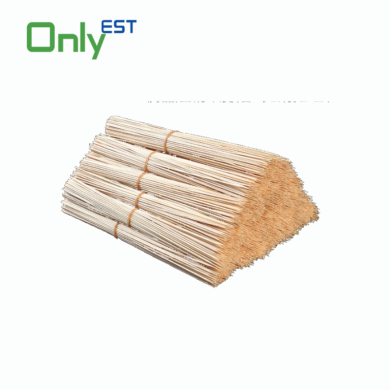 Good price and service no smell BBQ long flat round bamboo sticks